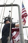 Retiring U.S. Navy Captain's flag is flown aboard USS Bonhomme Richard 170112-N-XT039-130.jpg