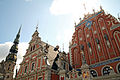 Riga MelngalvjuNamsAndSvPeteraBaznica 01.jpg