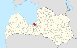 Location of Riga within Latvia