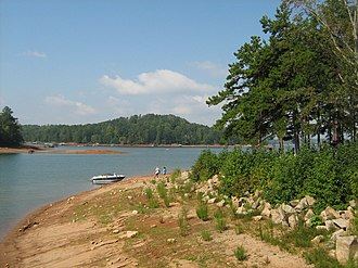 Lake Lanier - Lake Lanier at River Forks Park in Gainesville.