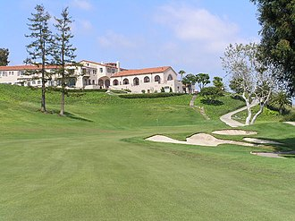 Riviera Country Club - 18th hole and clubhouse in 2006