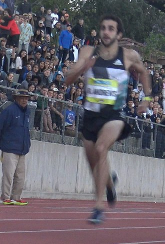 Robby Andrews - Robby Andrews at the 2016 Hoka One One Middle Distance Classic, at Occidental College, May 10, 2016