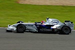Kubica podczas Grand Prix Wielkiej Brytanii (BMW F1.07)