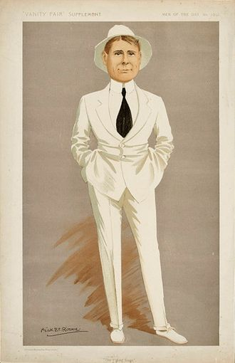 "Robert Loraine - ""The Flying Stage"" Loraine as caricatured in Vanity Fair, 10 January 1912"