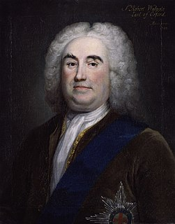 British statesman and art collector, 1st Earl of Orford