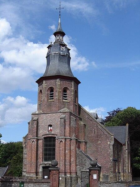 Church of Saint Denis in Roborst. Roborst, Zwalm, East Flanders, Belgium
