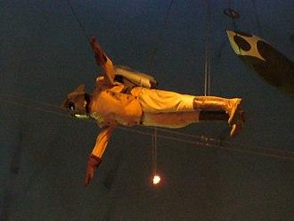 The Rocketeer (film) - A Rocketeer uniform on display at Planet Hollywood in Disney Springs.