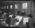 Rohwer Relocation Center, McGehee, Arkansas. An art class at a recreation center at the Rohwer project. - NARA - 538986.tif