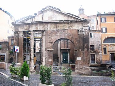 Today's appearance of the Porticus Octaviae. Roma-PorticodiOttavia 02.JPG