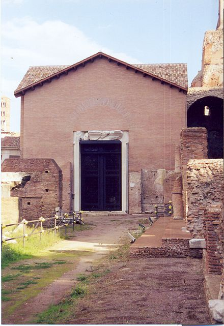 Santa Maria Antiqua, in the Forum Romanum, 5th century, seat of Pope John VII Rome SantaMariaAntiqua01.jpg