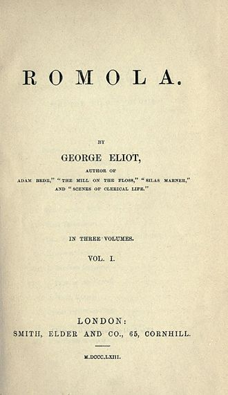 Romola - First book edition title page.