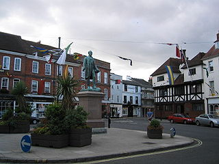 Romsey town in Hampshire, England