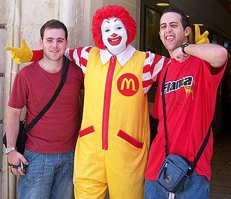 Ronald McDonald - Ronald McDonald (center) in 2007