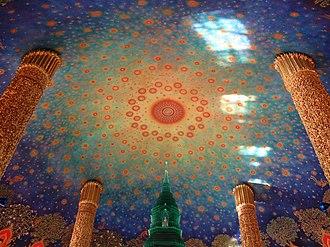 Wat Paknam Bhasicharoen - Roof of the Phrarathchamongkhon Stupa in Wat Paknam Bhasicharoen.