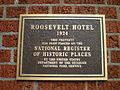 Roosevelt Hotel plaque, Portland.jpg