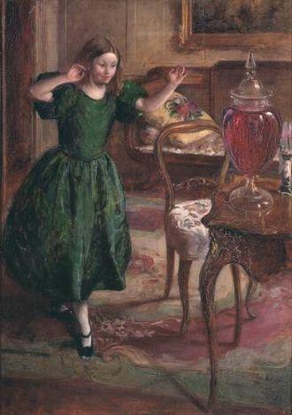 The Purple Jar - Rosamund and The Purple Jar, 1900 painting