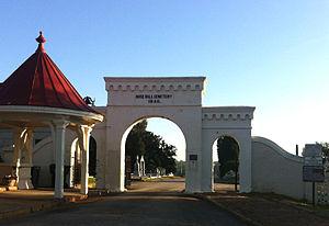 Rose Hill Cemetery (Macon, Georgia) - Entrance in April 2014