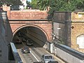 Rotherhithe road tunnel, southern portal - geograph.org.uk - 1871918.jpg