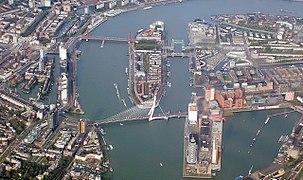 Rotterdam Erasmusbrug Kop van Zuid 20050928 40201-3