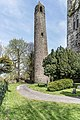 Round tower at St. Columba's Church in Swords, Dublin -115240 (25960260733).jpg