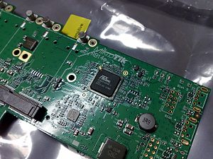 PLX Technology - PLX Technology PEX8606 PCI Express switch on a PCI Express ×1 card, creating multiple endpoints out of one endpoint and allowing it to be shared by multiple devices