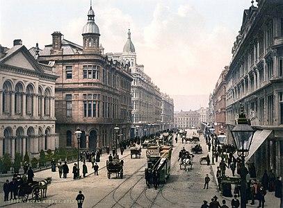 """Royal Avenue. Belfast. Co. Antrim, Ireland"" Photochrom print."
