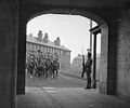 Royal Canadian Dragoons leaving Stanley Barracks through arch, April 14, 1925.jpg