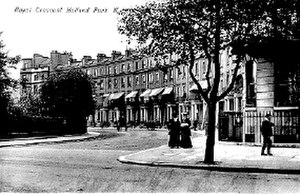 Royal Crescent, London - A postcard showing Royal Crescent, circa 1900