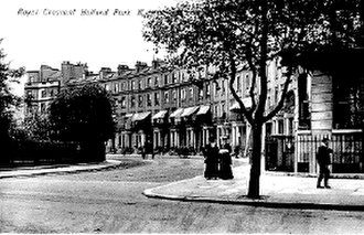 Holland Park Avenue - A postcard showing Royal Crescent, viewed from Holland Park Avenue, circa 1900
