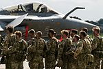 Royal Marines, commando assault demo, Aeronavale Rafale M (28418549706).jpg