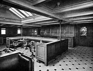 SS Finland (1902) - The second-class smoking room aboard Finland, c. 1909