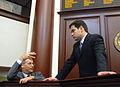 Rubio Conferring at Rostrum With Dem Leader.jpg