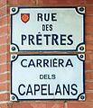 Rue des Prêtres (Toulouse) - Plaques.jpg