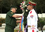 Russian Defence Minister visited tank division Revolutionary Armed Forces of Cuba and laid a wreath to the Soviet soldiers-internationalists memorial 03.jpg