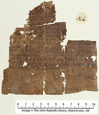 Nicene Creed - Oldest extant manuscript of the Nicene Creed, dated to the 6th Century