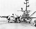 S2F-1 Trackers of VS-27 on USS Valley Forge (CVS-45) in 1960.jpg