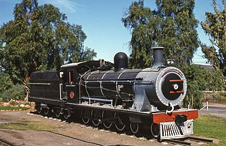 South African Class 7A 4-8-0 - Ex CGR (Eastern System) 7th Class no. 726 SAR Class 7A no. 1009 with modified Type ZC tender