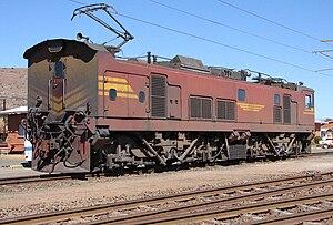 South African Class 7E1 - No. E7111 at Vryheid, KwaZulu-Natal, 16 August 2007