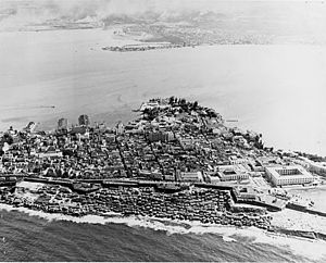 Old San Juan - Aerial view of Old San Juan in 1952
