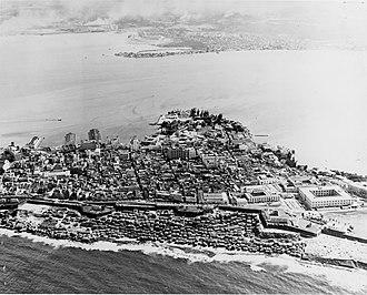 Old San Juan - Aerial view of Old San Juan in 1952