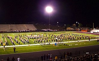 Stow-Munroe Falls High School - The Bulldog Marching Band performs at the 2013 Stow Band Show.