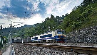 Baoji–Chengdu Railway - Baocheng Railway near Yangpingguan.