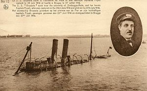 Charles Fryatt - SS Brussels scuttled at Zeebrugge, October 1918