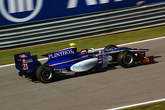 Stéphane Richelmi - Richelmi driving for Trident at the Monza round of the 2011 GP2 Series season.