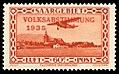 Saar 1934 196 Volksabstimmung, Flugpost Focke-Wulf A 17, Flughafen Saarbrücken.jpg