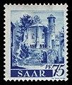 Saar 1947 222 ehemalige Benediktiner Abtei Mettlach, Alter Turm.jpg