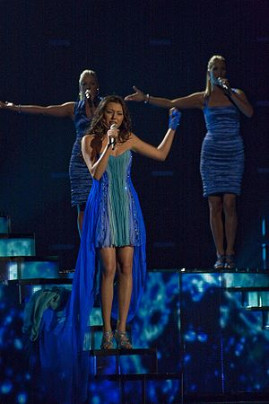 Azerbaijan in the Eurovision Song Contest - Image: Safura Alizadeh May 2010 Semifinal