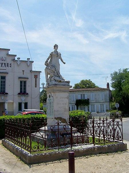 Monument aux morts de Saint-Symphorien, Gironde, France