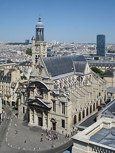 Saint Etienne du Mont from Pantheon.JPG
