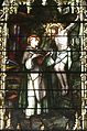 Saint Joseph Catholic Church (Somerset, Ohio) - stained glass, St. Thomas Aquinas converses with Christ on the Crucifix.jpg